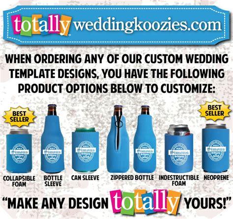 koozie design template 52 best most popular wedding designs images on