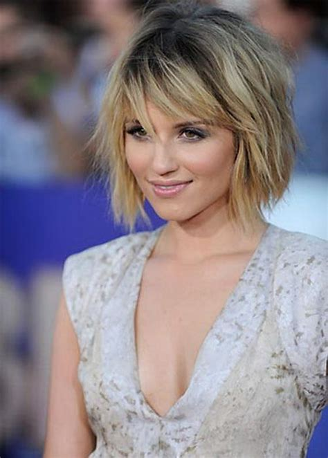bangs for skinny long face short hairstyles for round faces and thin hair with bangs
