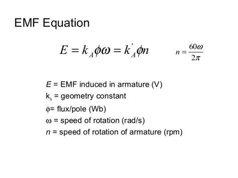 emf equation of motor chapter 4 dc machine autosaved