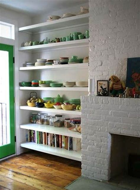 kitchens with shelves green retro modern kitchen decorating ideas open kitchen