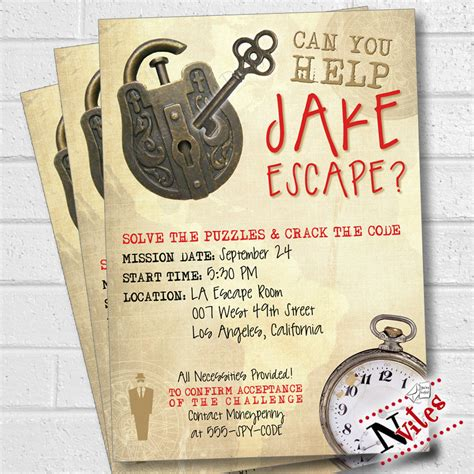 printable escape room puzzles escape room party invitation escape room party escape party