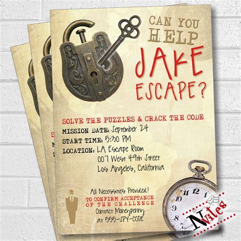 printable escape room escape room party invitation escape room party escape party
