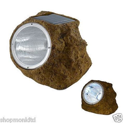 Solar Powered White Led Rock Lights Outdoor Garden Pond Solar Rock Lights For Garden
