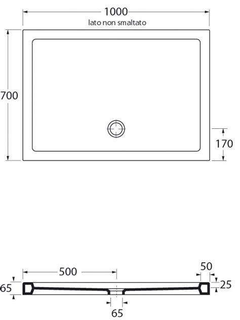 misure standard piatto doccia piatto doccia in ceramica rettangolare 70x100 cm san marco