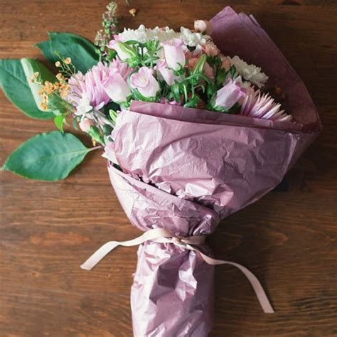 How To Make Wrapping Paper Flowers - 14 fresh takes on a bouquet wrap brit co