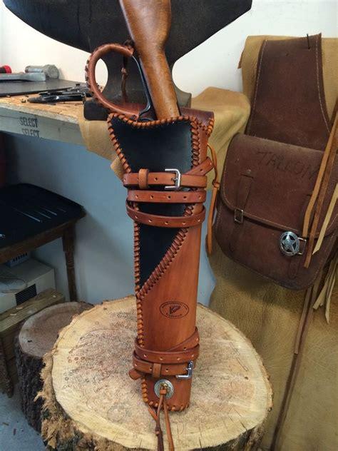 Custom Handmade Leather Holsters - leather handmade scabbard henry mares leg ranch