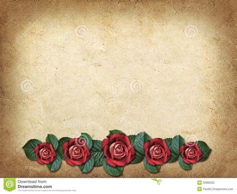 imagenes de rosas rojas vintage tarjeta del vintage para la enhorabuena con tres rosas