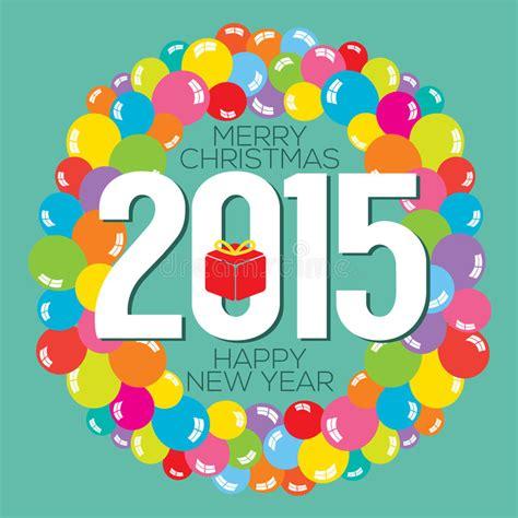 new year 2015 card vector colorful balloon bunch 2015 new year card stock vector