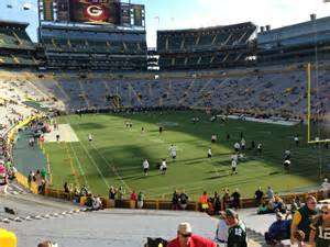 green bay section 8 lambeau field section 105 rateyourseats com