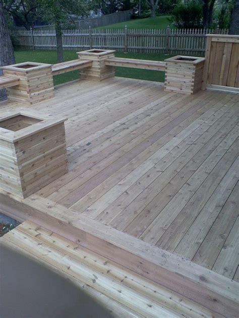 deck planters and benches deck bench planter designs woodworking projects plans
