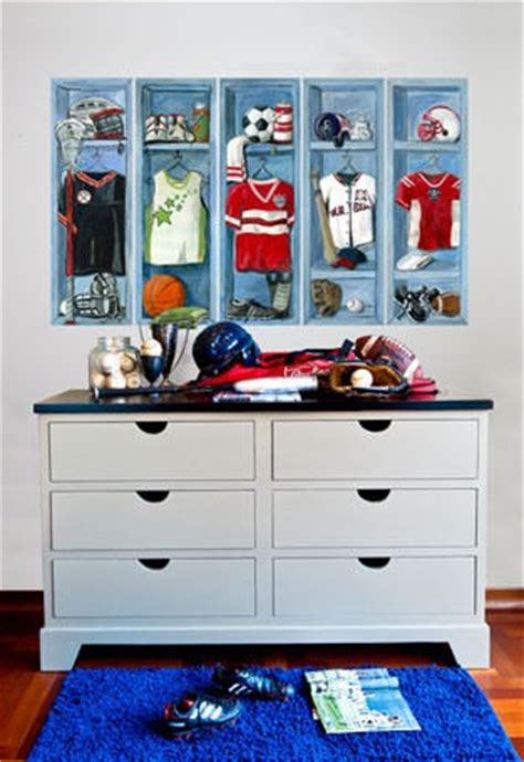 sports lockers peel  place wall decals