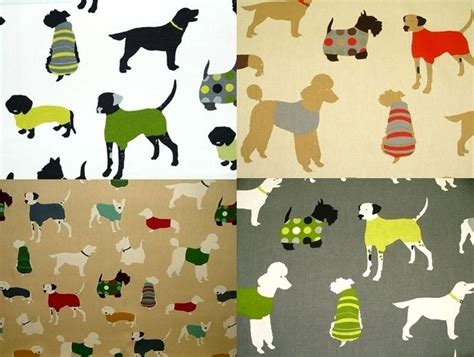 puppy fabric prestigious mans best friend designer cotton curtain upholstery fabric ebay
