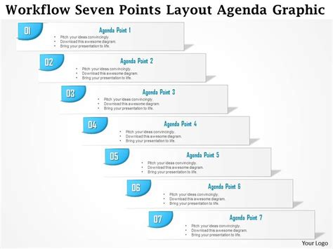 powerpoint workflow template 0914 business plan workflow seven points layout agenda