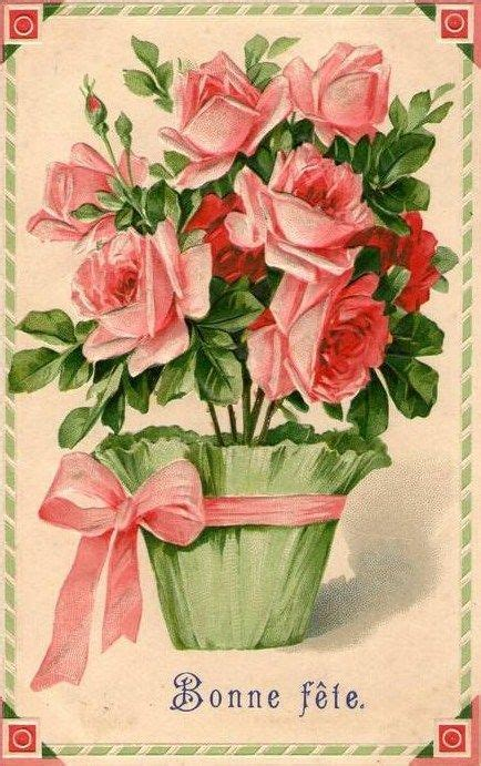 free printable birthday cards roses vintage rose birthday card vintage postcard floral