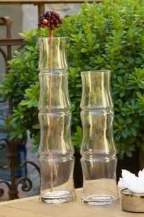 vase bambou transparent d 244 me deco