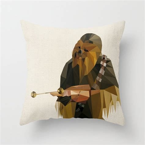 Chewbacca Pillow by Wars Polygon Pillow Covers The Geometric Side Of The