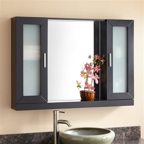 black medicine cabinets for bathroom 40 quot winneston medicine cabinet bathroom