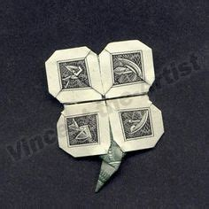 Money Origami Shamrock - origami money tutorial how to make an origami