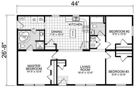 redman manufactured homes floor plans chion redman manufactured mobile homes home floor