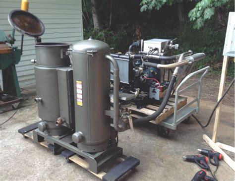 turn wood   motor fuel   wood gasifier