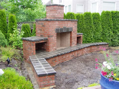 Outdoor Masonry Fireplace Plans by Brick Outdoor Fireplace Peculiarities Fireplace Designs