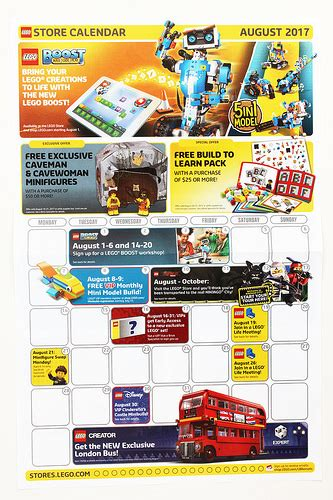lego store calendar december 2017 the brick fan lego news lego reviews and discussions
