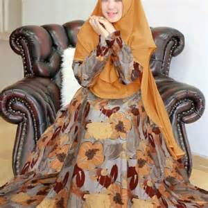Gamis Monalisa Motif Tartan Biru gamis monalisa flowy motif bunga baju muslim butik jingga