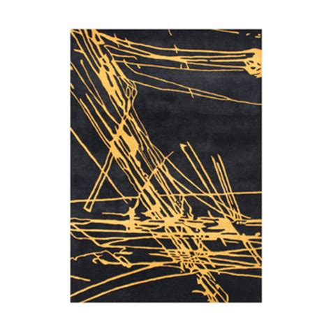 Black And Yellow Area Rugs by Alliyah Rugs Black Yellow Area Rug 50078 5x8 Jpg