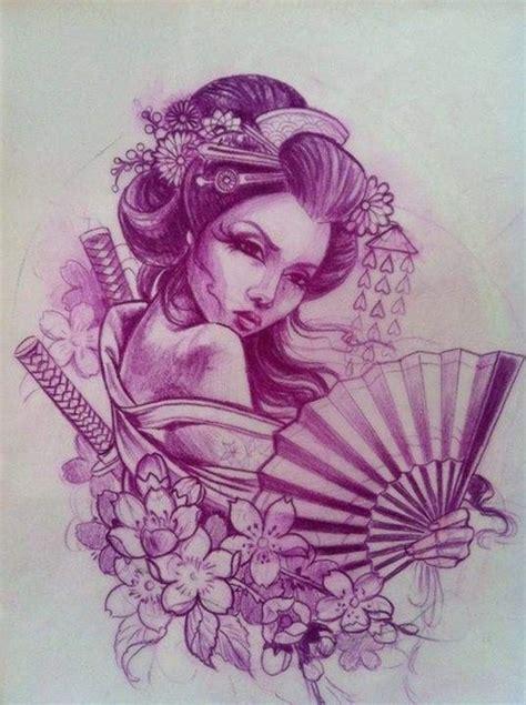 tattoo geisha sketch geisha drawing tattoos pinterest