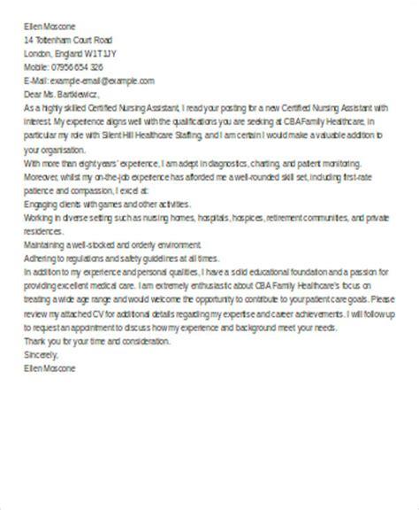 nursing assistant cover letter exles 6 nursing cover letter exles in word pdf