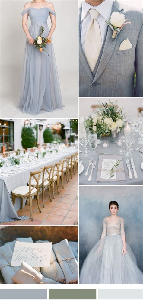 shoulder tulle bridesmaid dress tbqp328 dusty blue wedding theme wedding gray