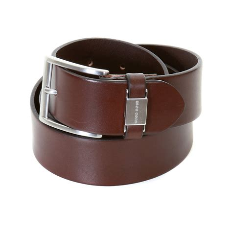 hugo black label mens connio 50224631 brown leather