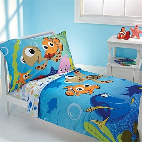 nemo bedding disney quot finding nemo quot 4 piece toddler bedding set buybuy