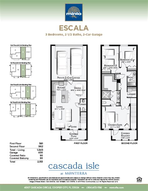 monterra floor plans cascada isle at monterra escala model cooper city homes minto