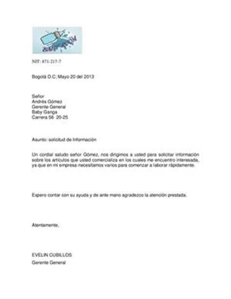 carta de solicitud de informacion calam 233 o cartas solicitud de informacion