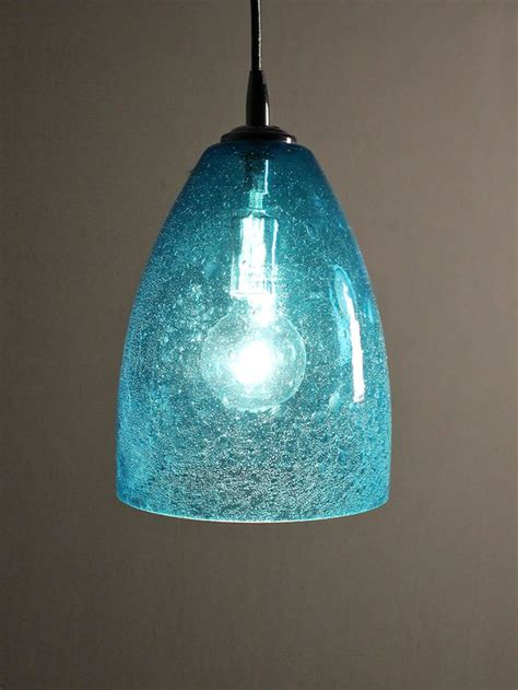 Aqua Glass Pendant Light Pin By On Refreshing Aqua