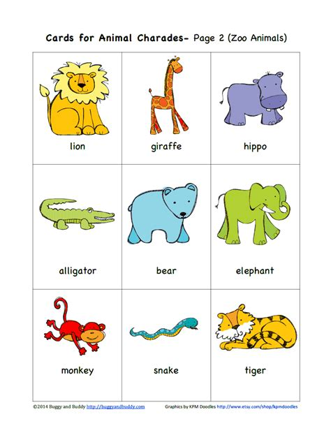 printable animal walk cards sempre crian 231 a http buggyandbuddy com animal charades