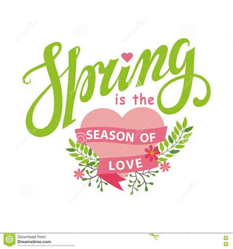 season for love spring season of love lettering flowers heart stock vector image 71140147