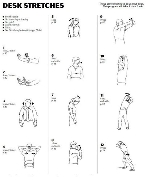 Office Desk Stretches 41 Best Office Desk Exercises Images On