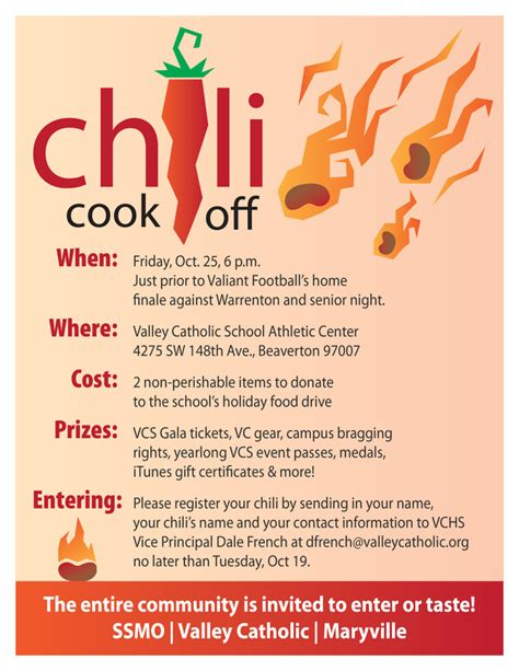 chili cook off flyer template free memes
