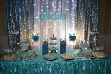 Sweet 16 candy station for Cinderella theme party