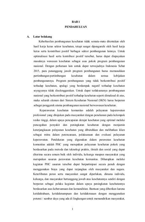 format askep komunitas pdf contoh laporan komunitas