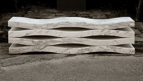 marble benches onda outdoor marble bench by paolo ulian moreno ratti