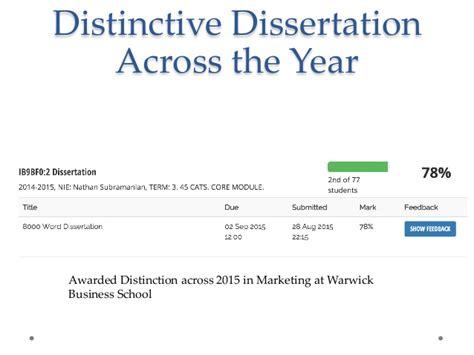 year dissertation distinctive dissertation across the year