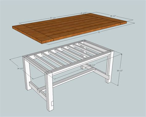 free plans for a rustic farmhouse table a lesson