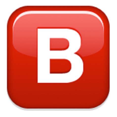 Letter Gift Emoji Negative Squared Capital Letter B Emoji U 1f171 U E533