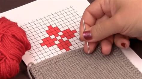 duplicate stitch in knitting how to knit the duplicate stitch 8 steps with pictures