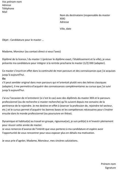 Exemple De Lettre De Motivation Universitaire La Lettre De Motivation Parfaite Pour Candidater 224 Un Master Capital Fr