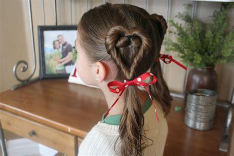 cute girl hairstyles valentine s day double twist hearts valentine s day hairstyles cute