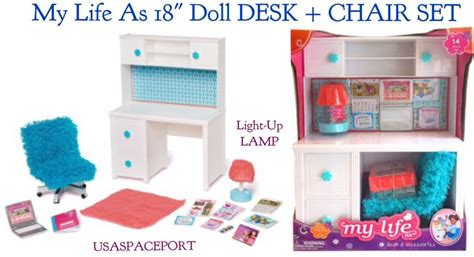 my life doll desk my life as desk and chair 18 quot american our